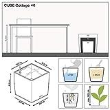 LECHUZA CUBE Cottage 40 Granit Komplett-Set - 4