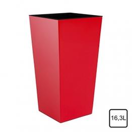 Pflanzkübel inkl. Kunststoffeinsatz rot 42x22x22