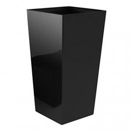 Pflanzkübel Kunststoff Metallic Schwarz Glitzer 50,5x26x26