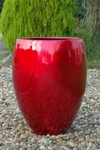 Pflanzkübel Fiberglas rot 62*43,5