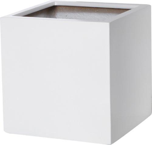 Pflanzkübel Fiberglas weiß 30x30x30 - Pflanzkuebel-Vergleich.de