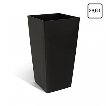pflanzk bel 50 5x26x26 inkl einsatz schwarz kunststoff. Black Bedroom Furniture Sets. Home Design Ideas