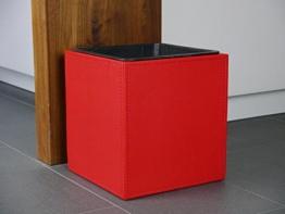 Pflanzkübel aus Kunstleder rot 28x28x30