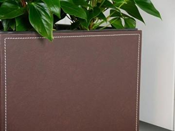 Pflanzkübel aus Kunstleder Mokka 45x46x46