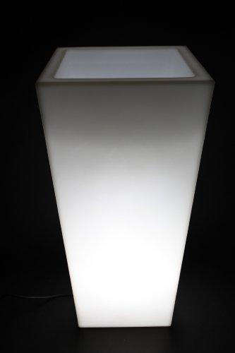 point-garden Pflanzkübel beleuchtet 90 cm Kunststoff Weiß ...